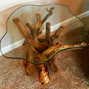 Juniper and Glass Side Table (sold)