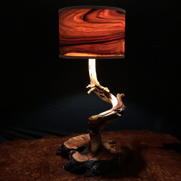 Juniper and Manzanita Burl Table Lamp 2 (sold)