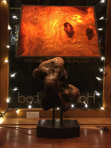 Walnut Burl and Driftwood Table Lamp