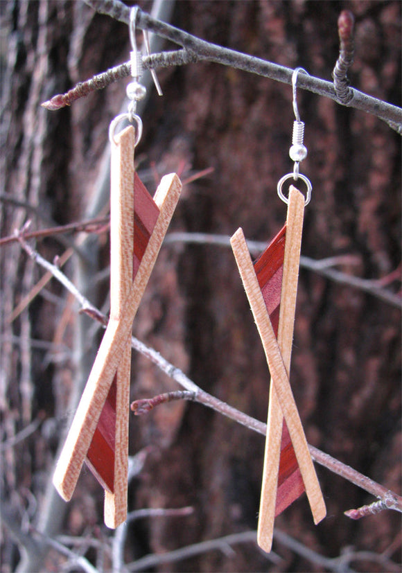 Burning Man Multiwood Earrings