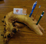 Cedar Card and Pen Holder (sold)