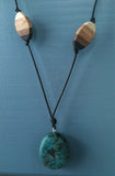 Turquoise and Multi-wood Necklace