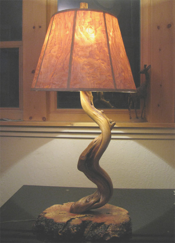 Juniper and Manzanita Table Lamp (sold)