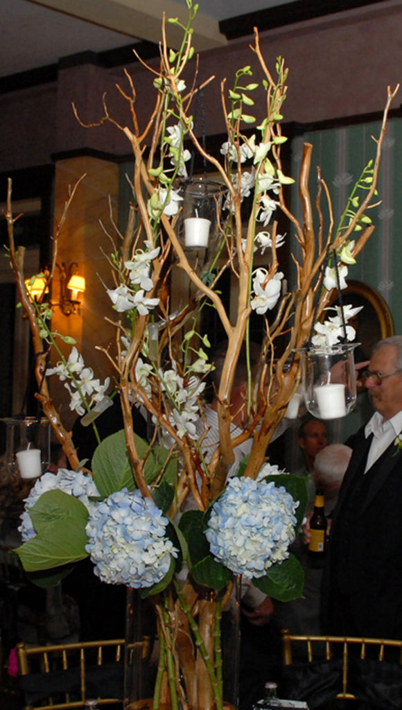 Manzanita and Orchid Wedding Displays (sold)