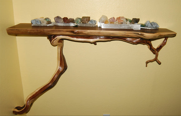 Walnut and Manzanita Shelf (sold)