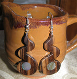Zebrawood Zigzag #2 Earrings