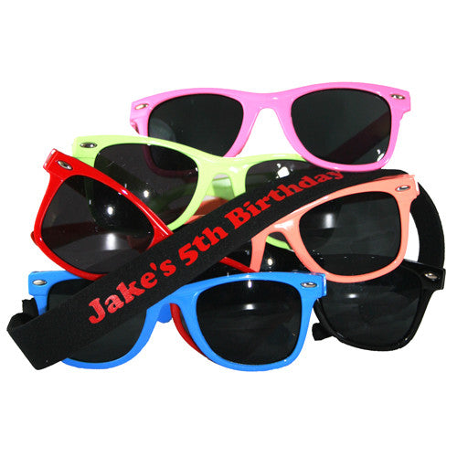 Personalized Sunglasses and Float Strap Birthday Party Favor | Party Booty Bags