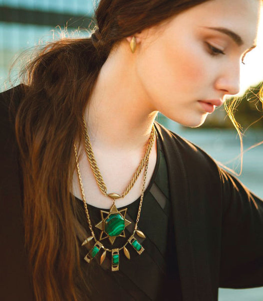 Kristin Miller malachite necklace