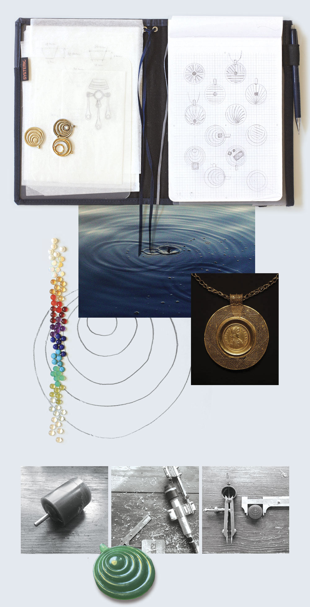 medallion necklace inspiration process