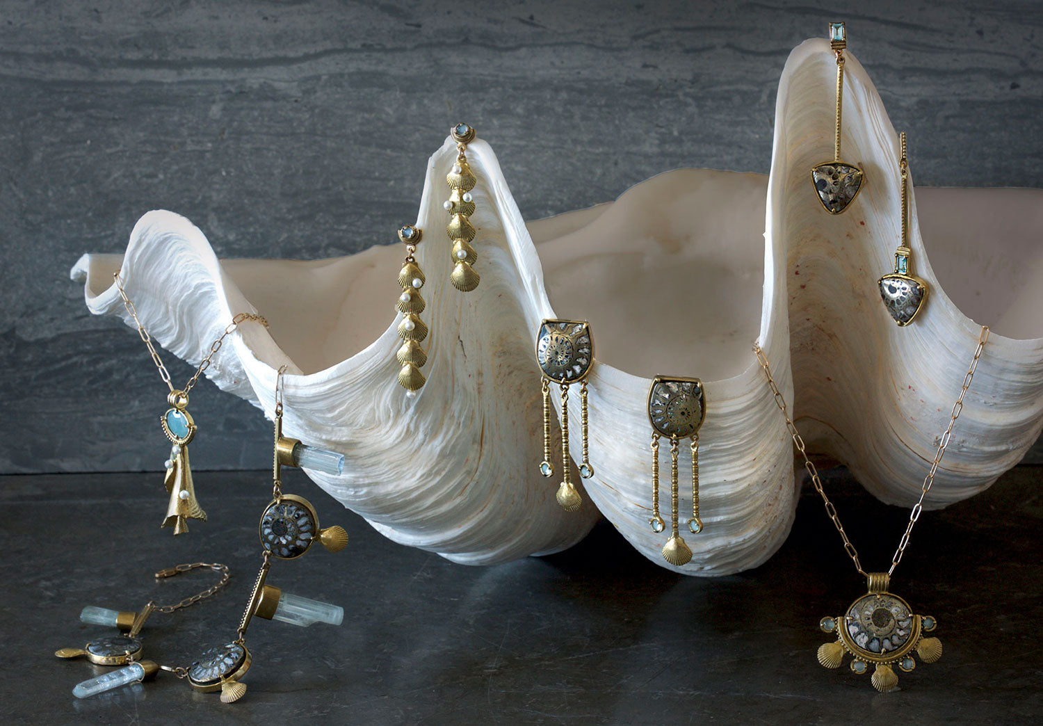 summer shell jewelry collection