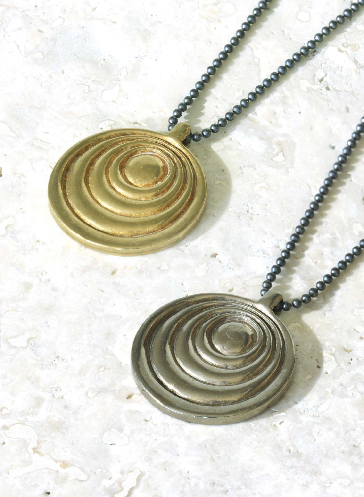 gold silver bronze unisex necklace