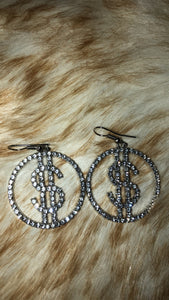 Dollar sign Earrings 💰💎