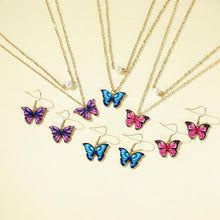 Load image into Gallery viewer, Butterfly Necklace Set