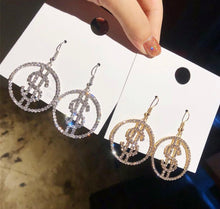 Load image into Gallery viewer, Dollar sign Earrings 💰💎