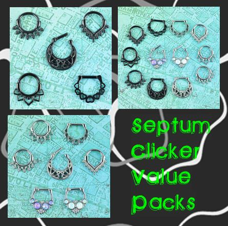 Septum clicker value packs