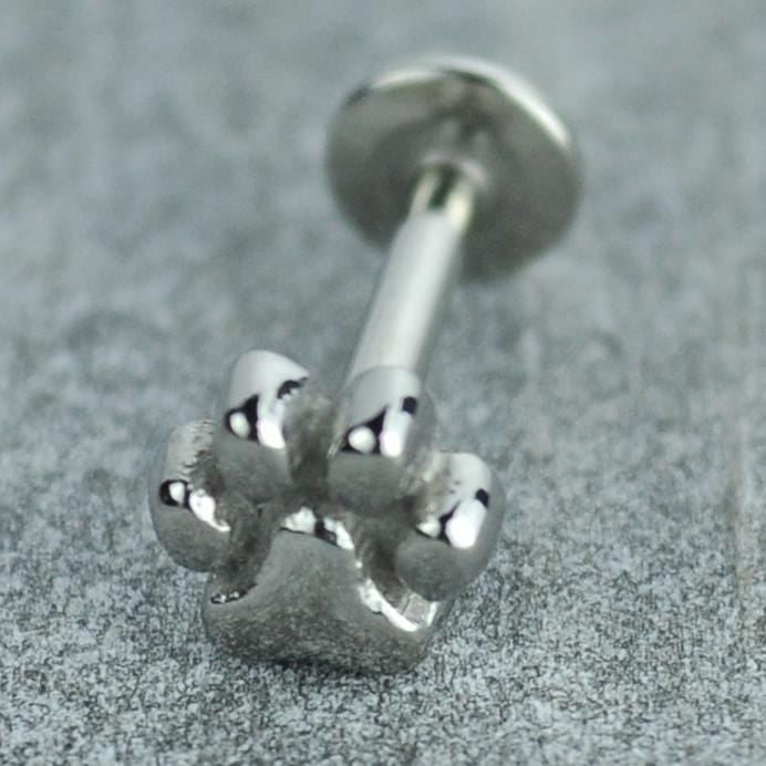 Pawprint Stainless Steel Labret