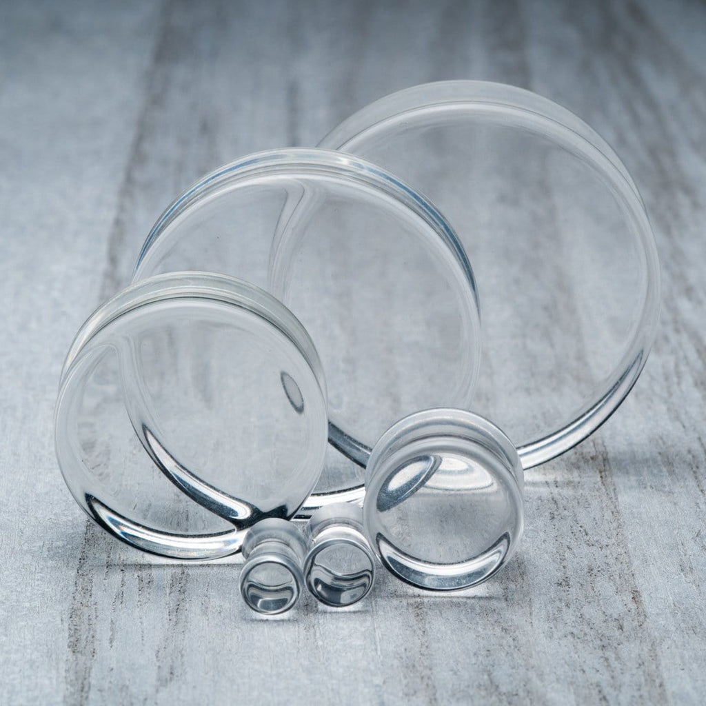 Clear Glass Plugs