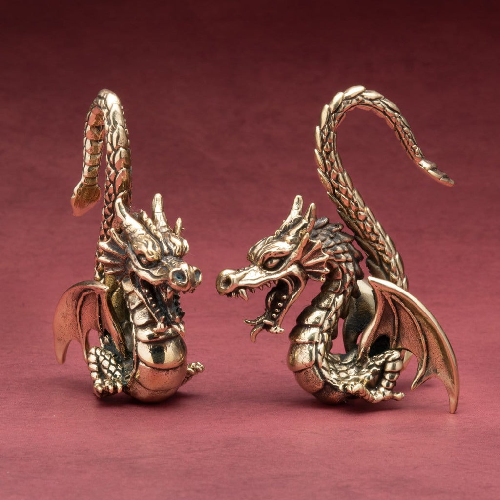 Dragon Brass Ear Weights Hangers