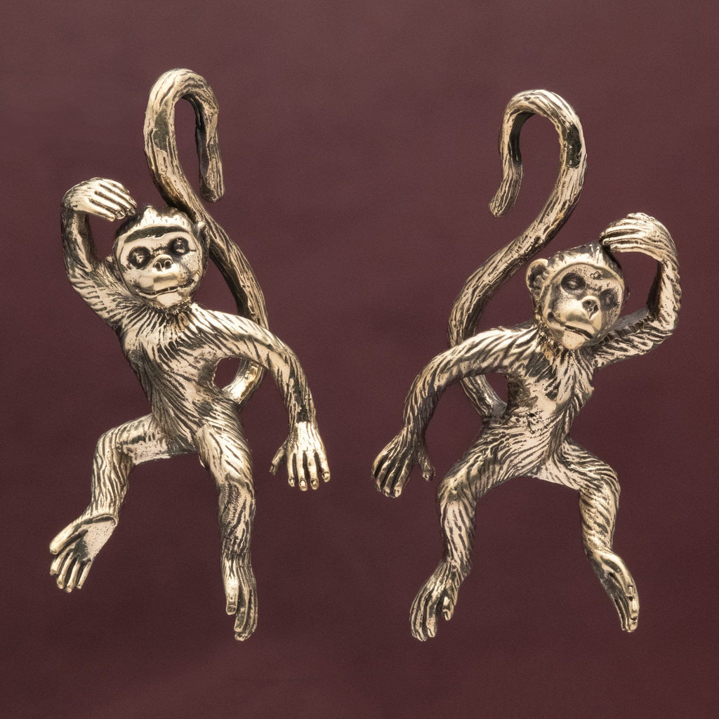 Monkey Brass Ear Weights Hangers