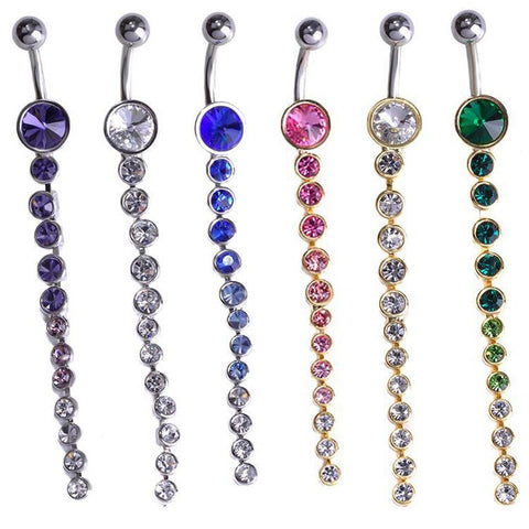 Cascading Gem Belly Ring