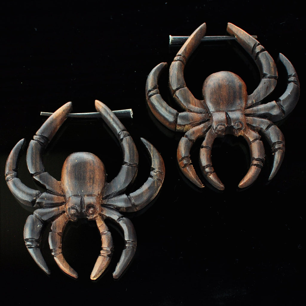 Narra Wood Spider Earrings Hangers