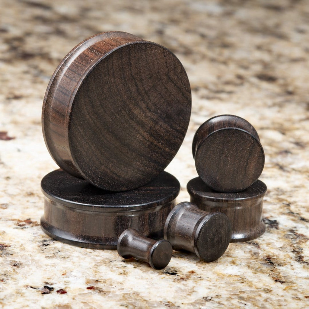 Ebony Wood Double Flare Plugs