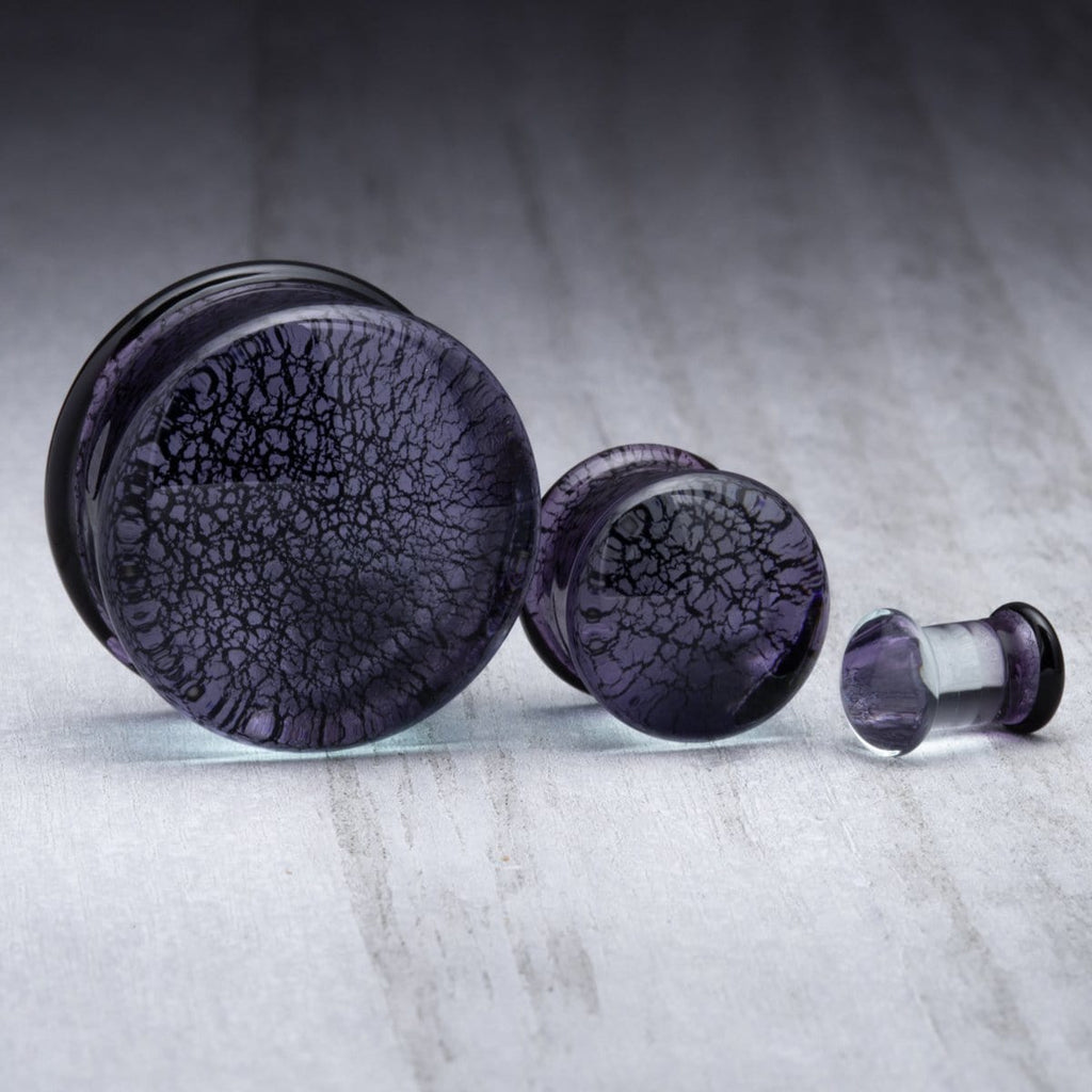 Metallic Purple Glass Plugs