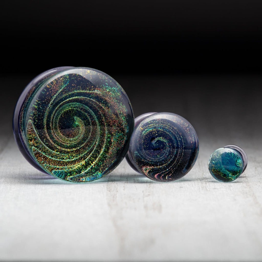 Purple Spiral Glass Plugs