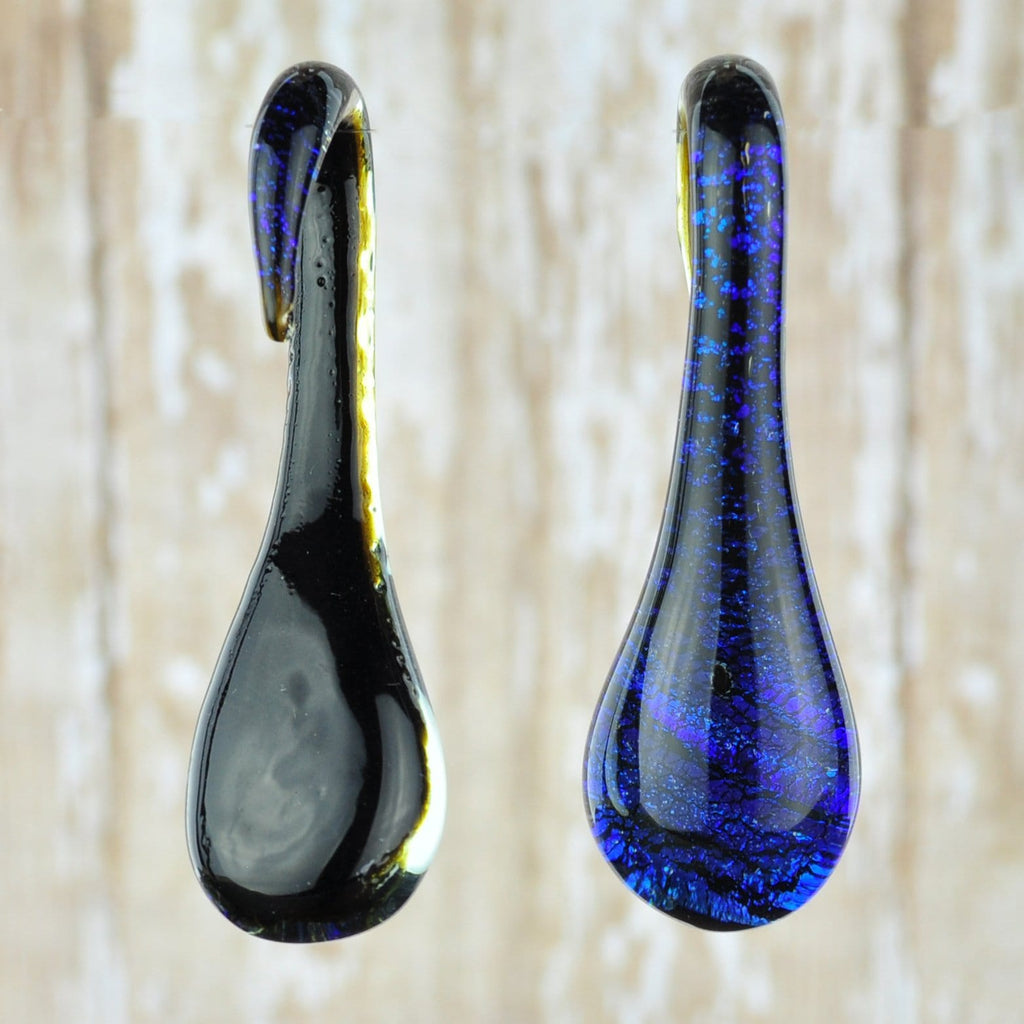 Blue Glass Teardrop Hangers