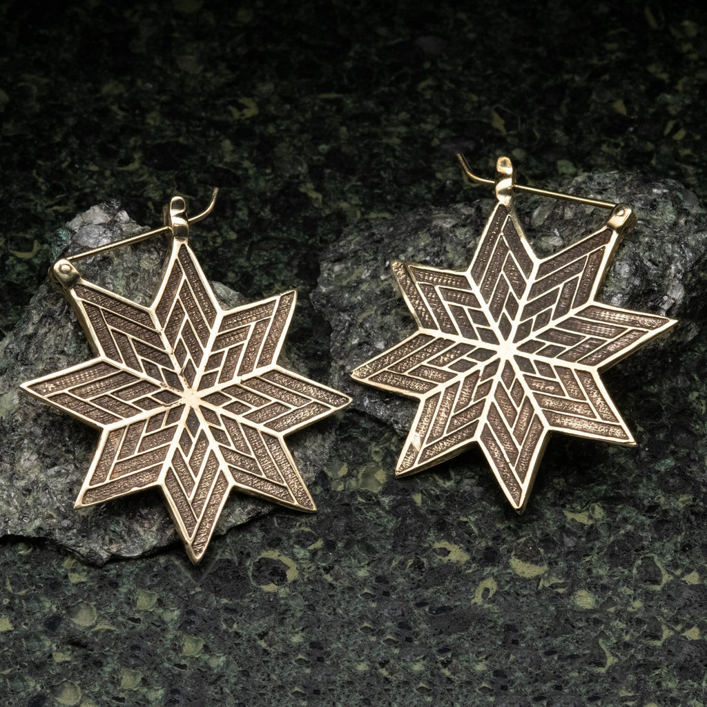 Tribal Star Brass Hangers
