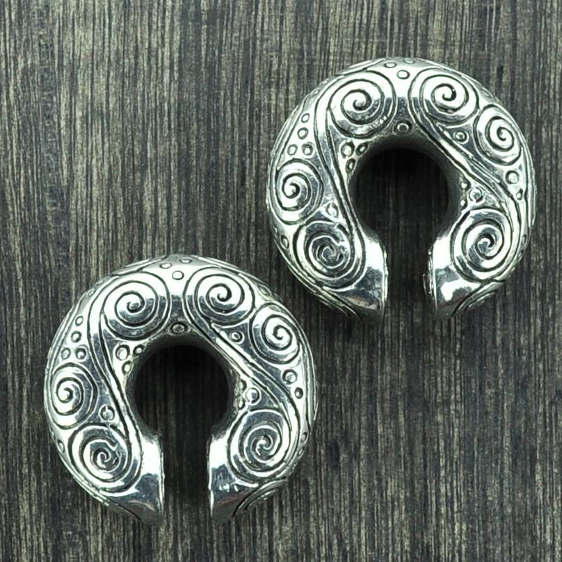 Engraved Swirl Pattern White Brass Weights Hangers