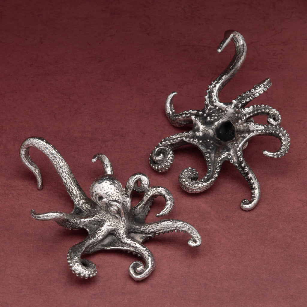 Octopus White Brass Ear Weights Hangers
