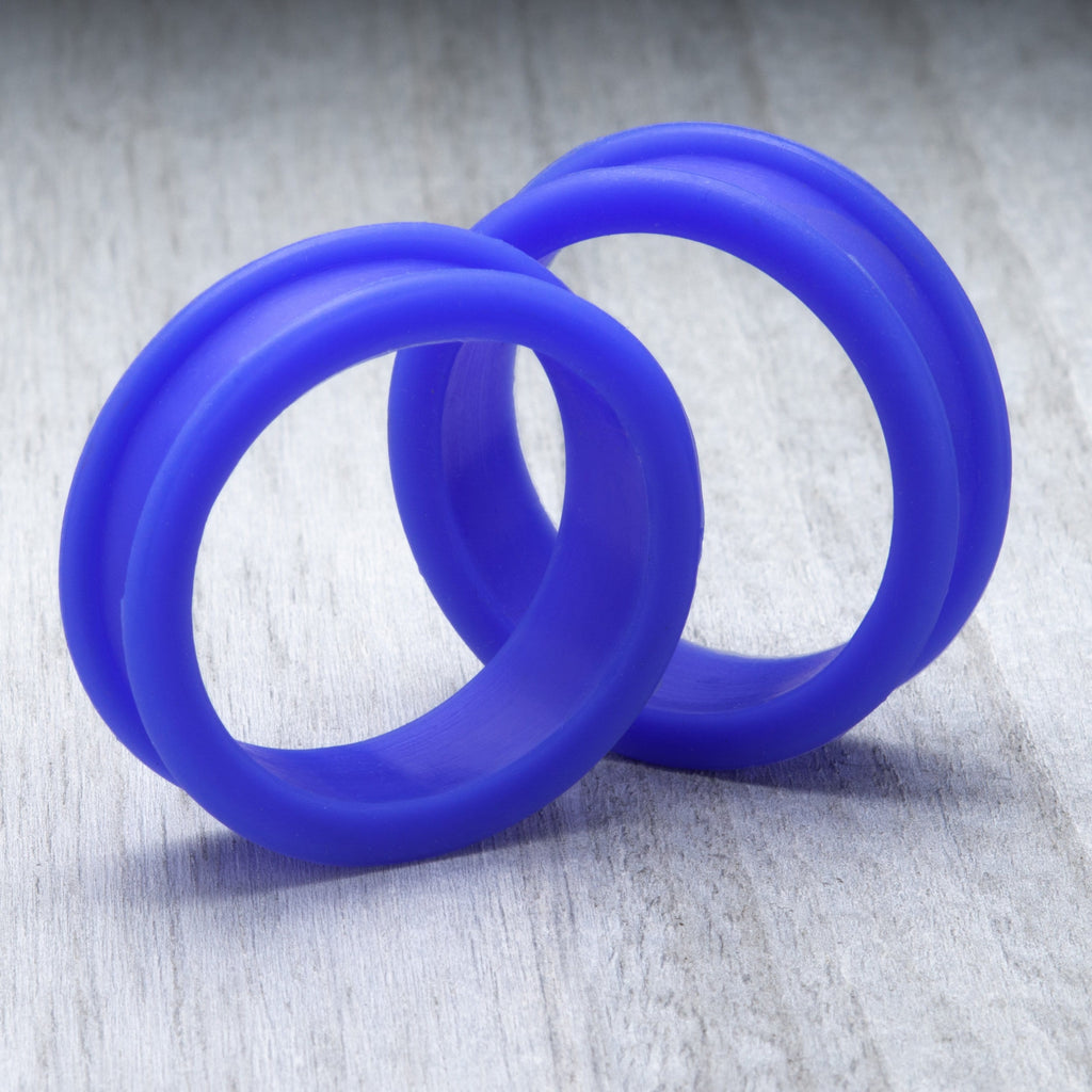 Glow Blue Thick Silicone Tunnels