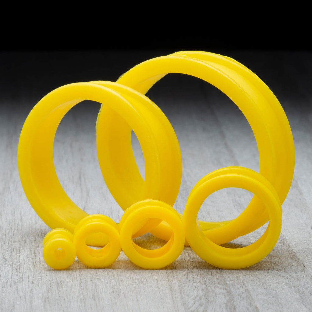 Pearl Yellow Thick Silicone Tunnels *Discontinued*