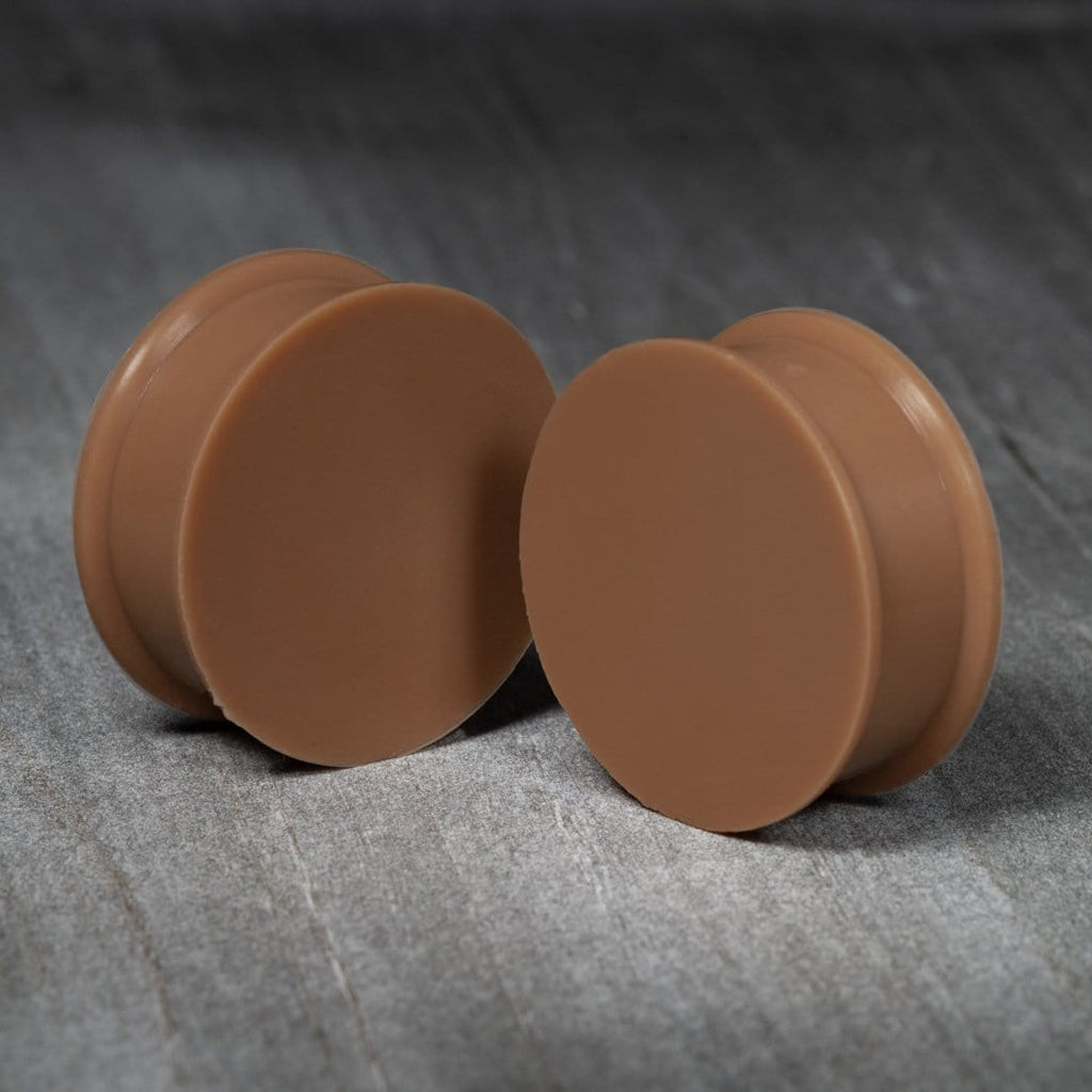 Flesh Silicone Double Flare Plugs #F5