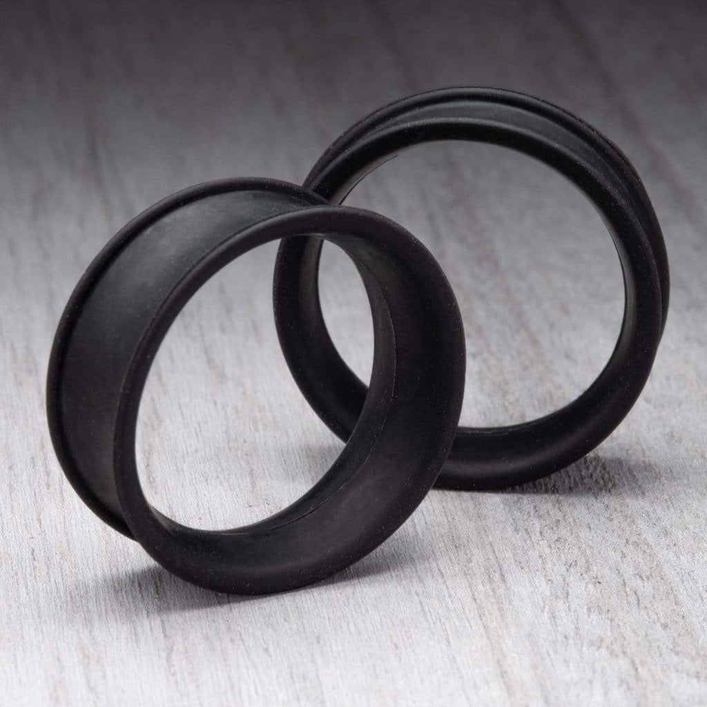 Matte Black Thin Silicone Tunnels