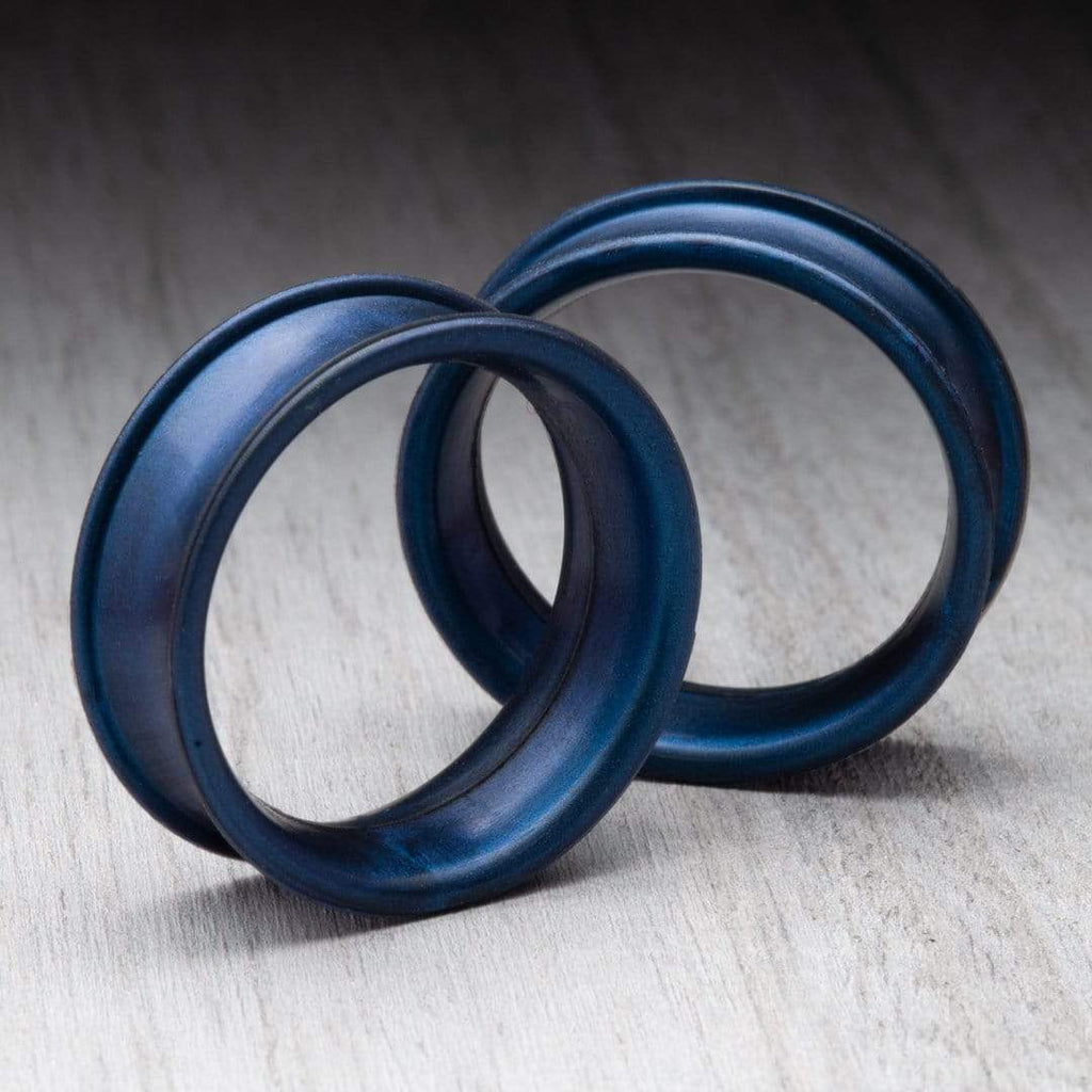 Pearl Steel Blue Thin Silicone Tunnels