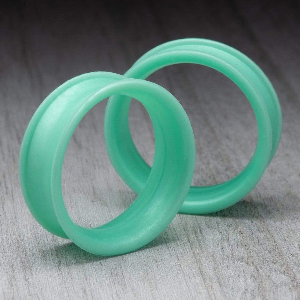 Pearl Light Green Thin Silicone Tunnels