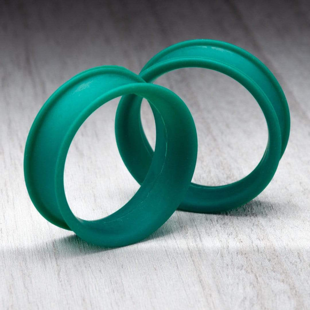 Matte Dark Green Thin Silicone Tunnels