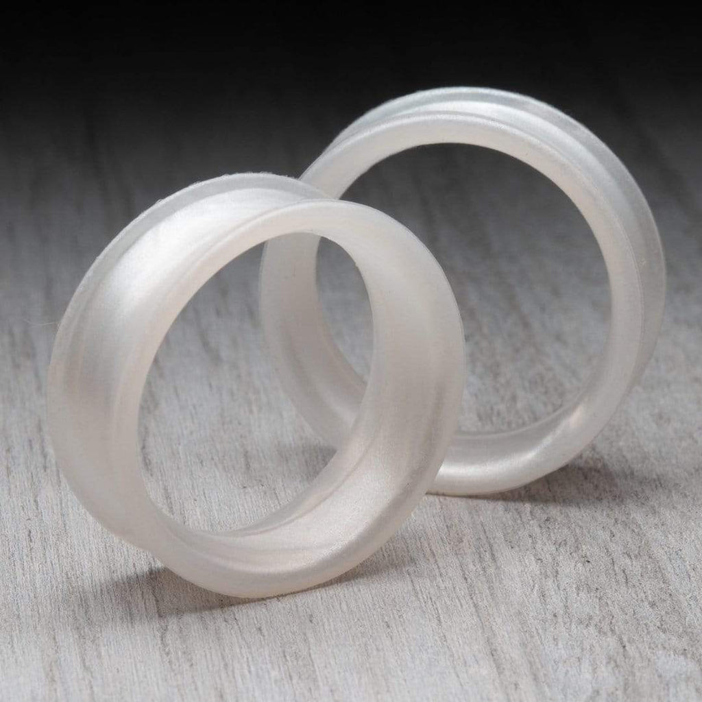 Pearl White Thin Silicone Tunnels