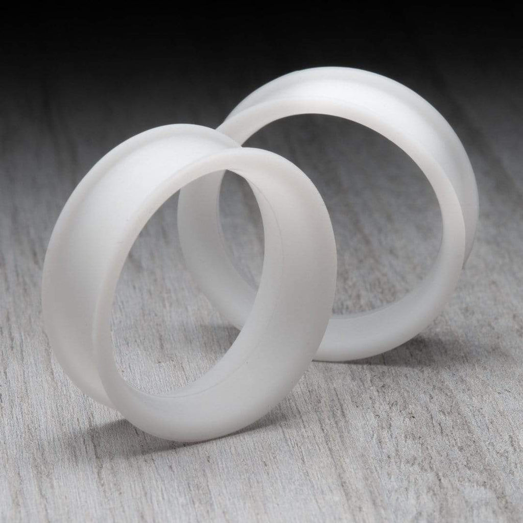 Matte White Thin Silicone Tunnels