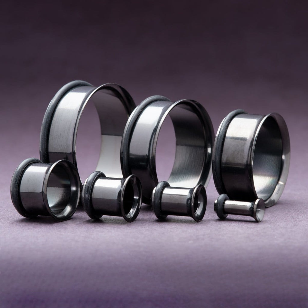 Black Single Flare Steel Tunnels