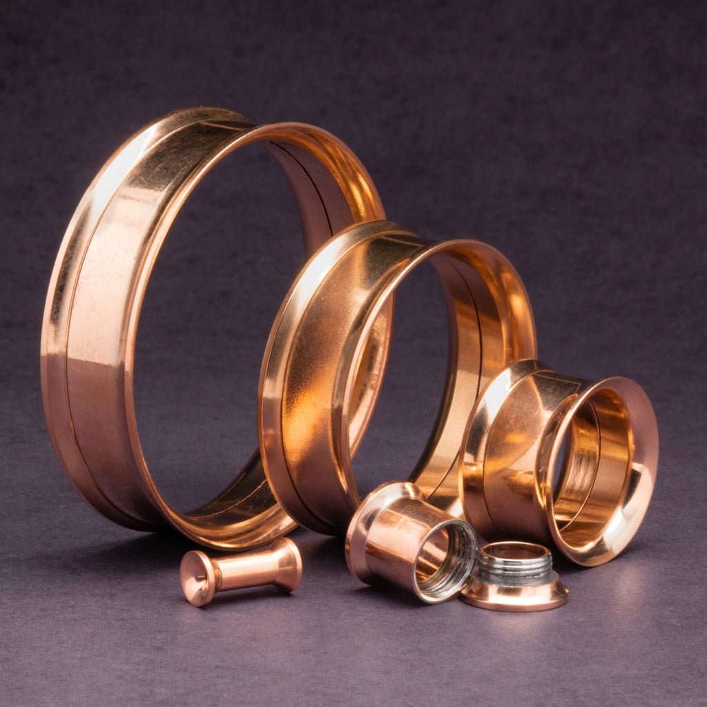 Rose Gold Screw Back Stainless Steel Tunnels