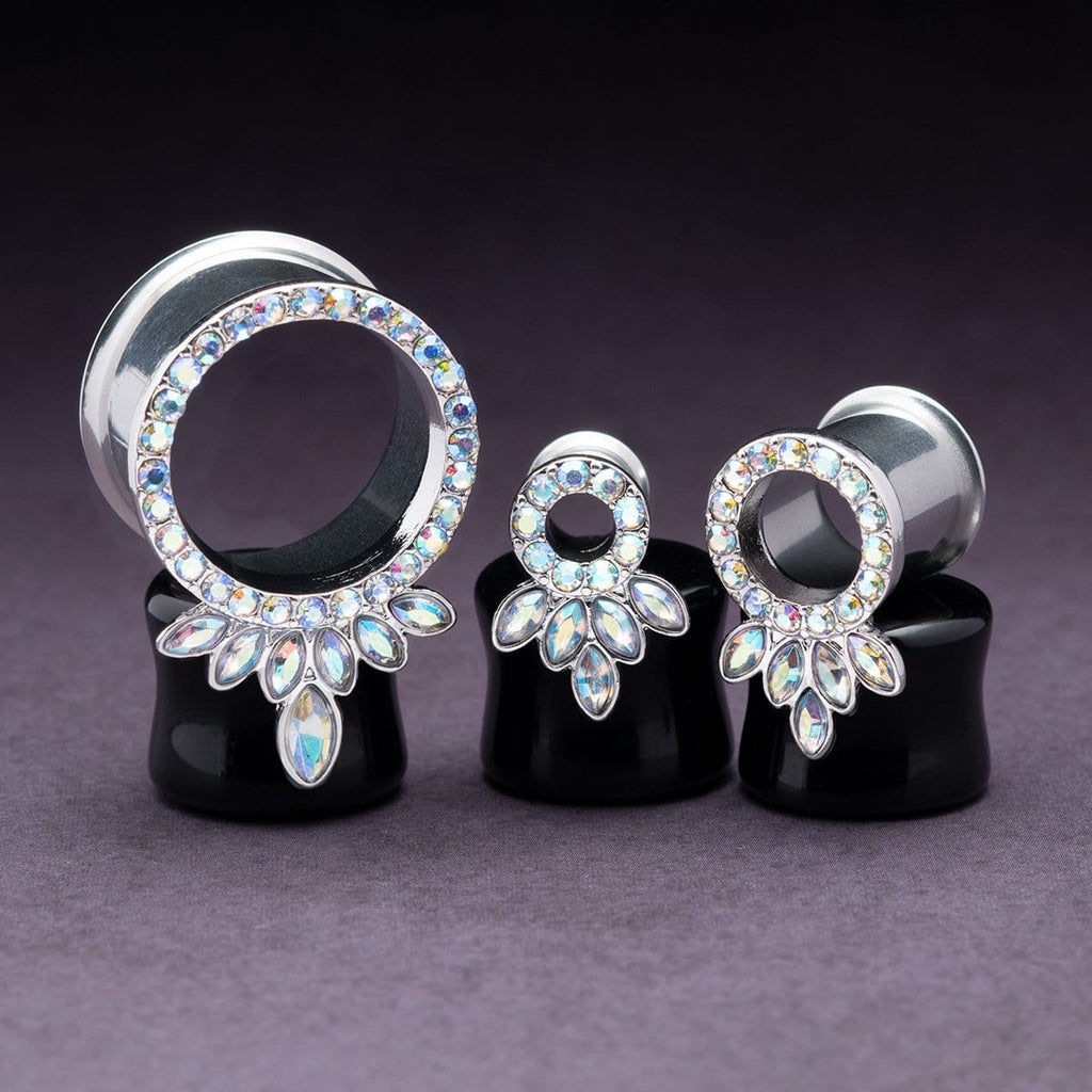 Steel Double Flare Tunnels with Marquise CZ