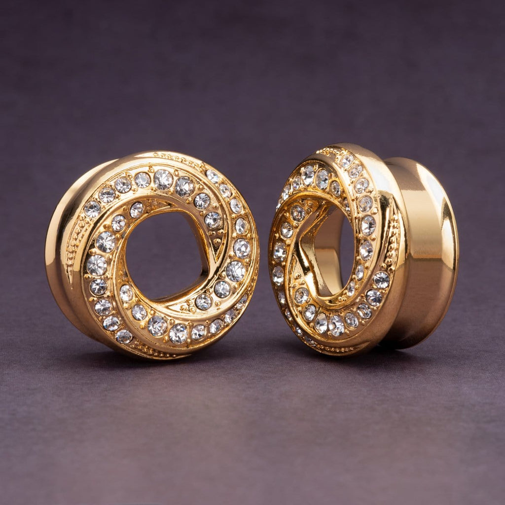 Gold Wrapped Spiral Tunnels