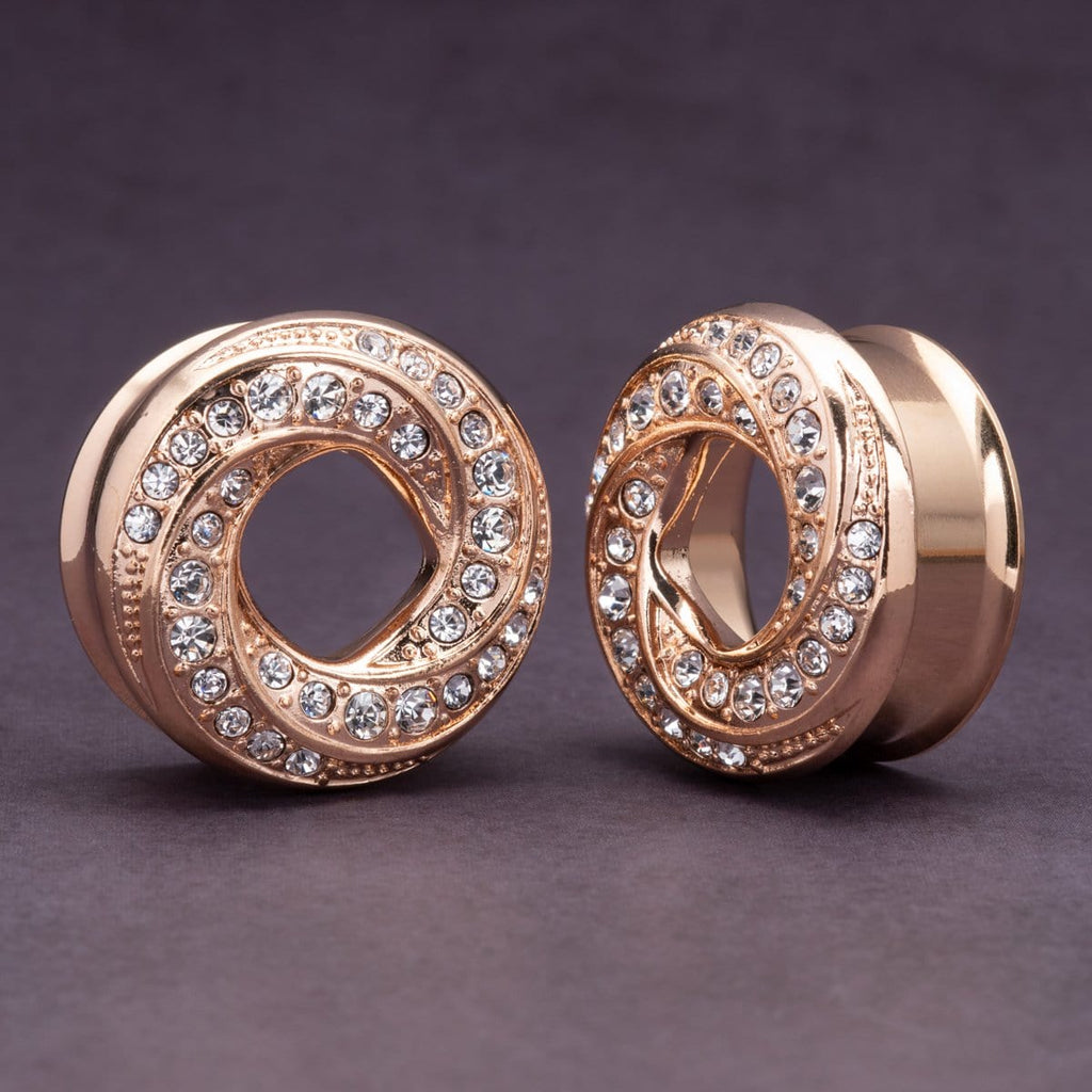 Rose Gold Wrapped Spiral Tunnels