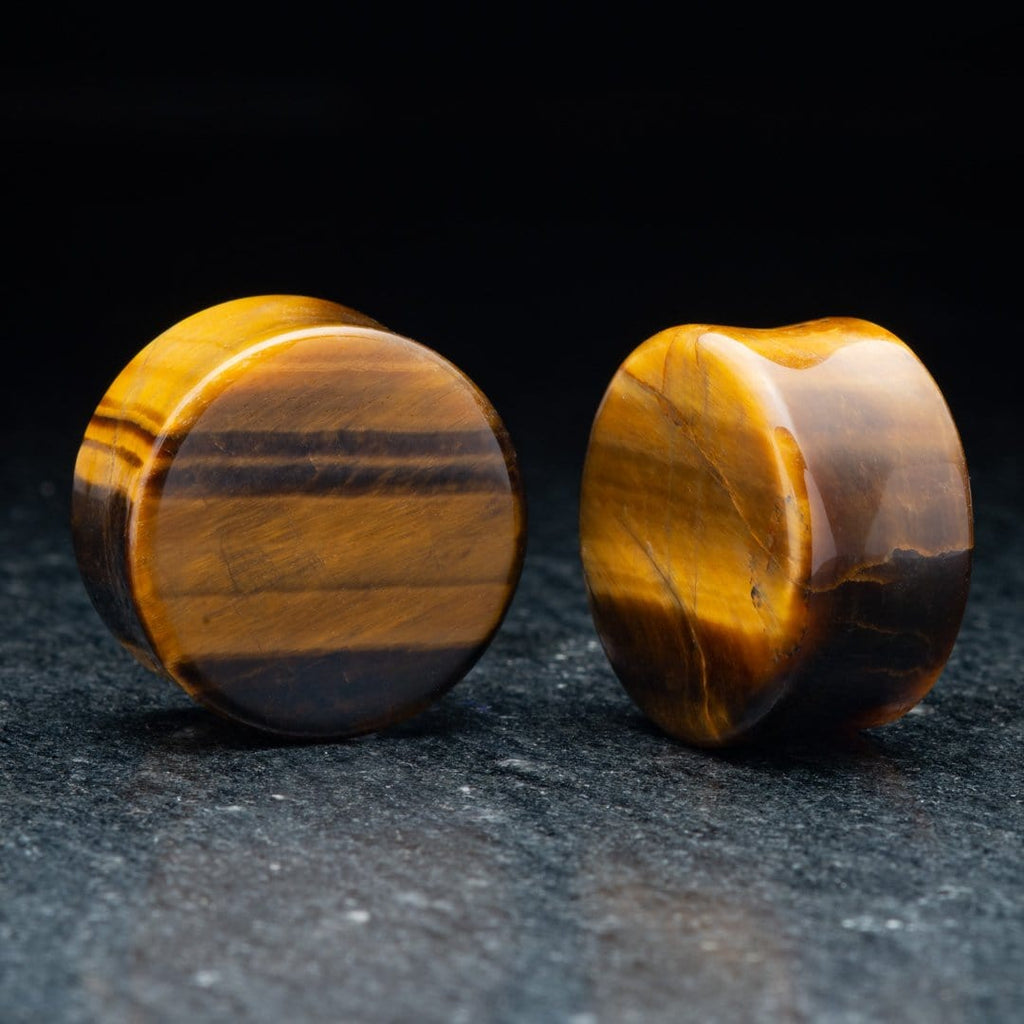 Yellow Tigers Eye Plugs