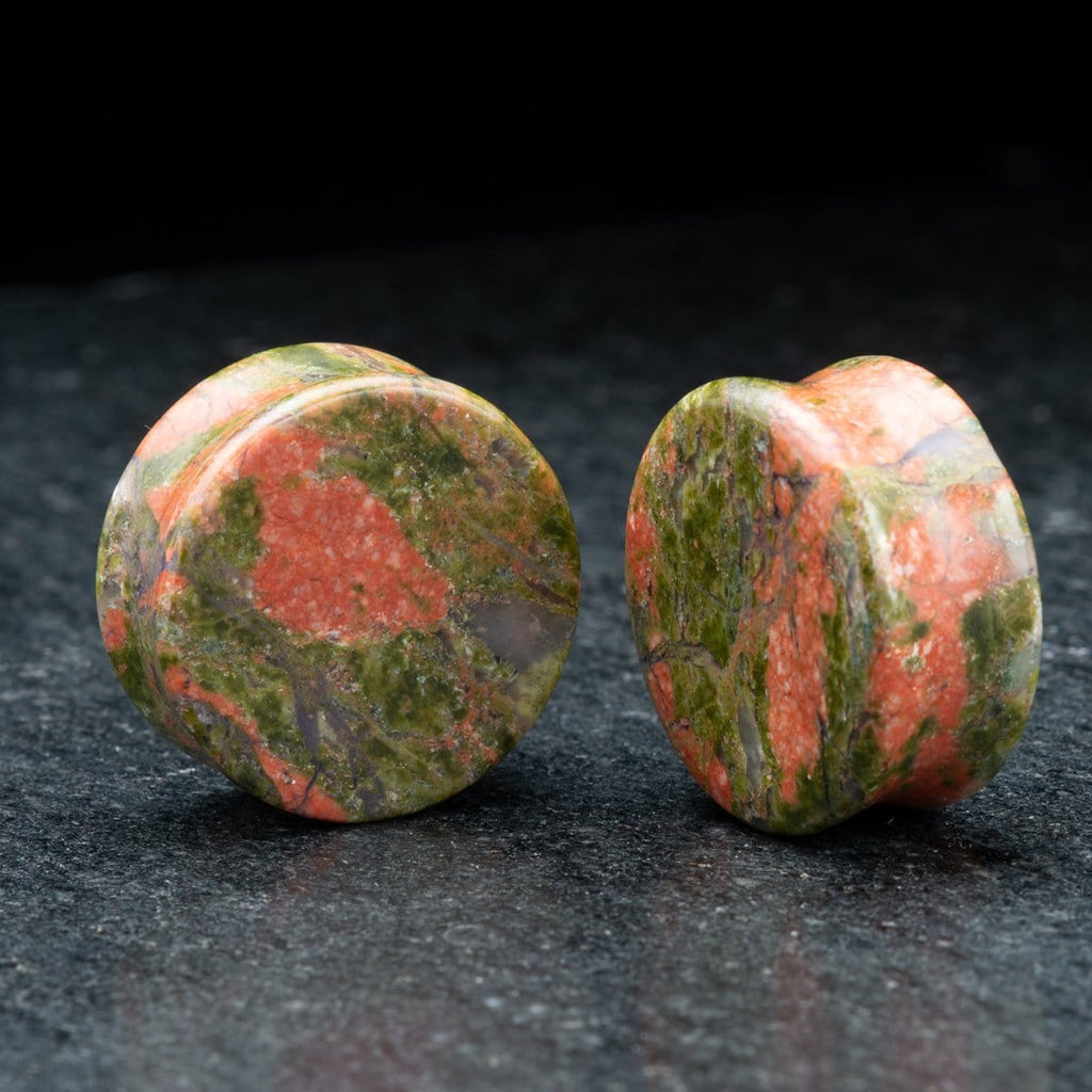 Unakite Double Flare Plugs