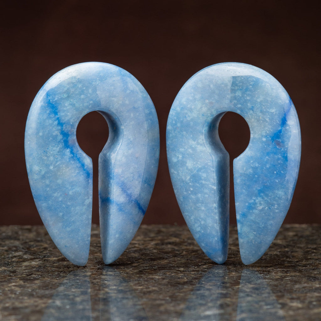 Blue Aventurine Keyhole Weight Hangers