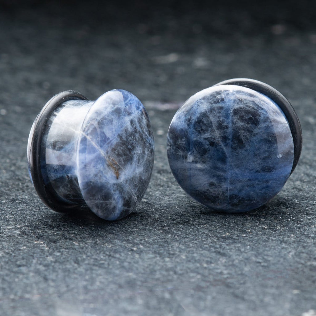 Sodalite Single Flare Plugs